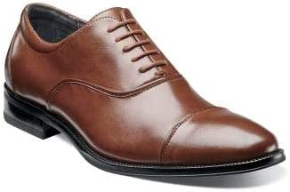 Stacy Adams Kordell Cognac Oxford Cap Toe Leather Dress Shoes