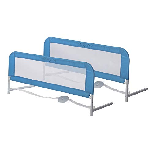 kidco bed rails Dream On Me Adjustable Mesh Bedrail Double Pack, Blue, 3 Pound