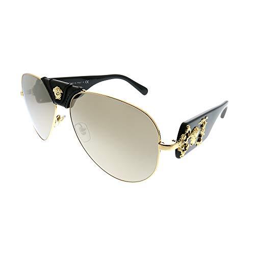 Versace Herren 0VE2150Q Sonnenbrille, Braun (Gold), 62.0