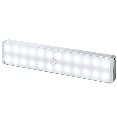 LED Closet Light, 24-LED Newest Version Rechargeable for Closet,Cabinet,Wardrobe,Kitchen,Hallway