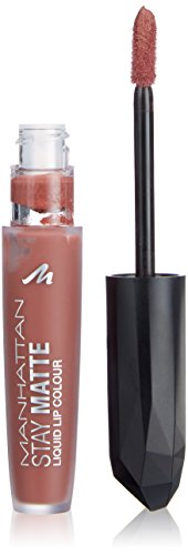 Manhattan Stay Matte Liquid Lip Colour, Farbe 140 Taupe Skyline (nude), 3er Pack (3 x 5.5 ml)