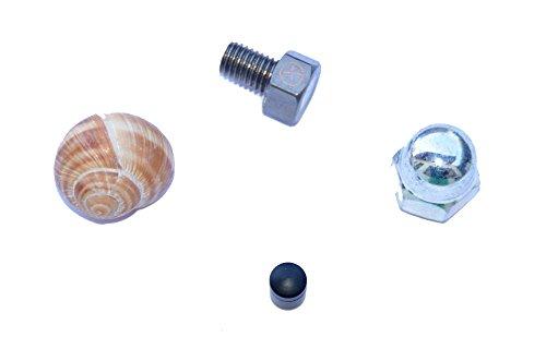 4er Set Geocaching Verstecke für die Stadt - Weinbergschnecke, Hutmutter, magnetischer Nano und magnetische Schraube mit Logstreifen