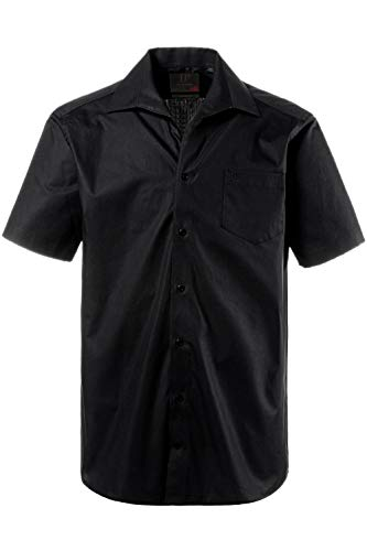 JP 1880 Herren große Größen Hemd, Halbarm, Variokragen, Comfort Fit-Schnitt schwarz 4XL 705178 10-4XL