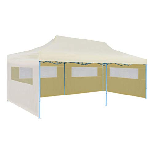vidaXL Tenda per Feste Pop-up Pieghevole Impermeabile Crema Tendone Gazebo