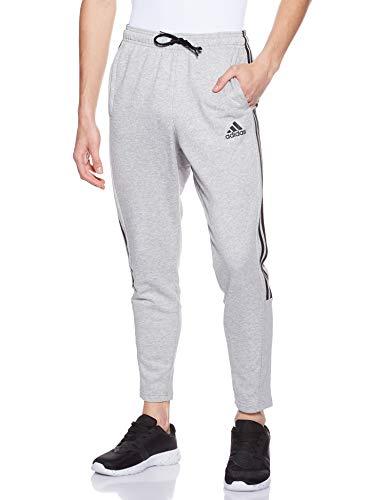 adidas Must Haves 3 Stripes Tiro French Terry, Pants Uomo, Medium Grey Heather/Black, 2XL