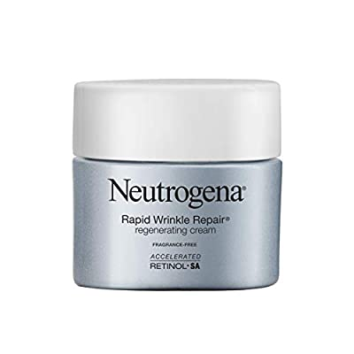 Neutrogena Rapid Wrinkle Repair Hyaluronic Acid Retinol Cream, Anti Wrinkle Cream, Face Moisturizer, Neck Cream & Dark Spot Remover for Face - Day & Night Cream with Hyaluronic Acid & Retinol, 1.7 oz by Johnson Johnson Consumer Inc