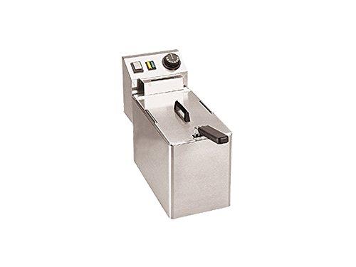 Friggitrice elettrica professionale in acciaio inox, 2100Watt, 5litri, Termostato fino a 190°C; FE 04e GGG