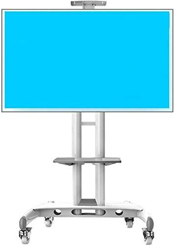 Inicio Equipo Soporte de pared para rack de TV Carrito de TV en blanco y negro con almacenamiento Soporte de TV universal giratorio independiente para dormitorio Salas de conferencias Esquina para