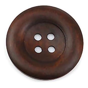 costura bricolaje Bot/ón de madera redondo de 35 mm de di/ámetro con 4 agujeros para manualidades Wuuycoky