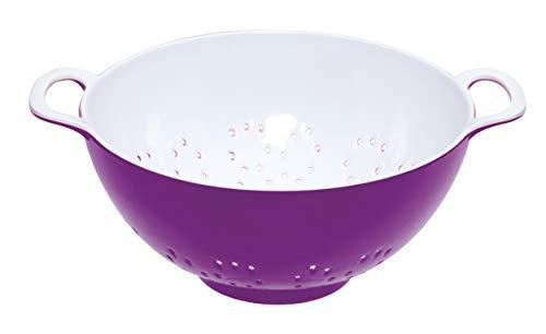 Colourworks CWMCOLSMLPUR Melamine Colander, Purple, 15 cm