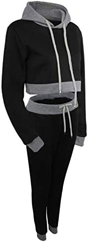 interesting Hooded Short Sweater + Color Matching Trousers Casual Two-piece Suit, Size:S(Gray) gift