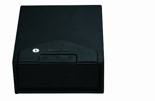 Stack-On Quick Access Drawer Safe, Spring-Loaded Drawer, Black