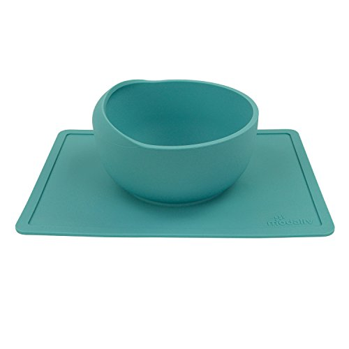 Scooper Bowl with Silicone Placemat Suction Base - Non-Skid - No Spill