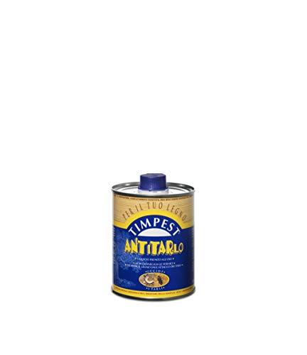 TIMPEST ANTITARLO LT. 0,500 - base solvente attivo contro tarli, larve, termiti e parassiti del legno - liquido pronto all'uso