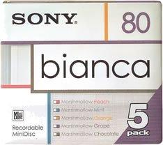 Sony Bianca MiniDiscs, 80 Min., 5 Stück