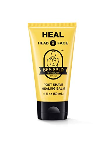 Bee Bald HEAL Post-Shave Healing Balm Immediately Calms & Soothes Damaged Skin, Treats Bumps, Redness, Razor Burn & Other Shaving Related Irritations.