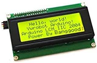 DL01 5 Pz IIC I2C 2004 204 20 x 4 Caratteri Modulo Display LCD Giallo Verde Z CH0406