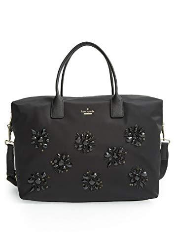 Kate Spade New York Lyla Classic Black Nylon Jewels Overnight Bag