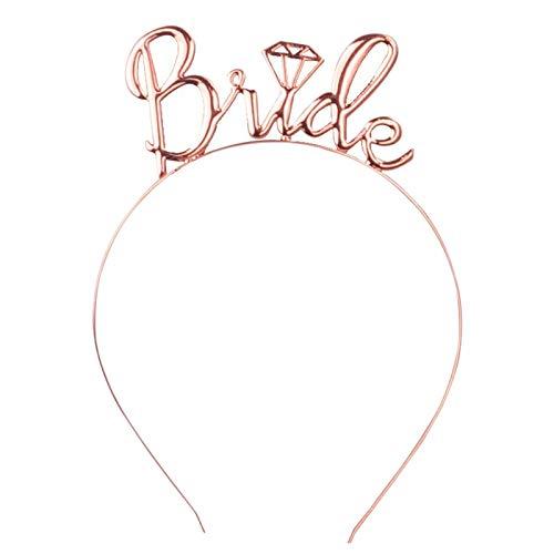 WOVELOT Rose Gold Bride To Be Diademi e Corone Accessori per Capelli da Sposa Accessori per Capelli Tiara Regali per Capelli da Donna