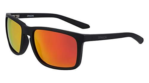 Dragon Mens DR MELEE ION Sunglasses, MATTE BLACK, 59mm, 18mm, 135mm