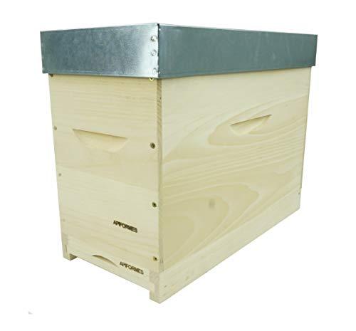 APIFORMERS Langstroth Ablegerkasten - aus Weymouthskiefer - Nachhaltig - Imkereibedarf - 5 Rähmchen - Massivholz - Naturprodukte - Bienenhaus