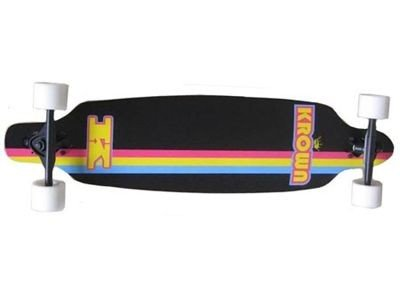 KROWN Elite Drop Through Black Longboard komplett