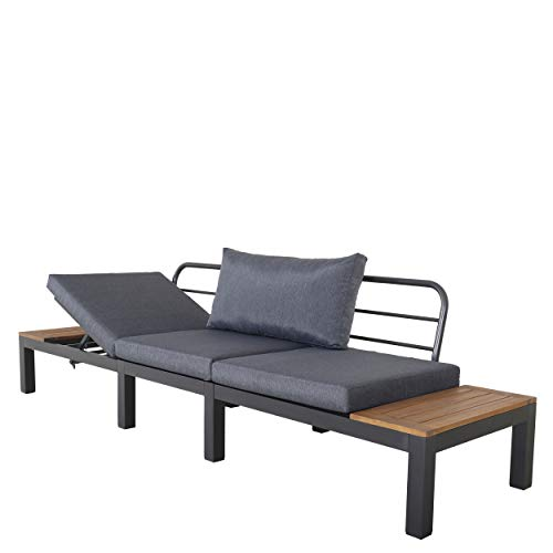 Chicreat Three-Seat Convertible Sofa with FSC Acacia Side Table, 270 x 78 x 86cm - 6