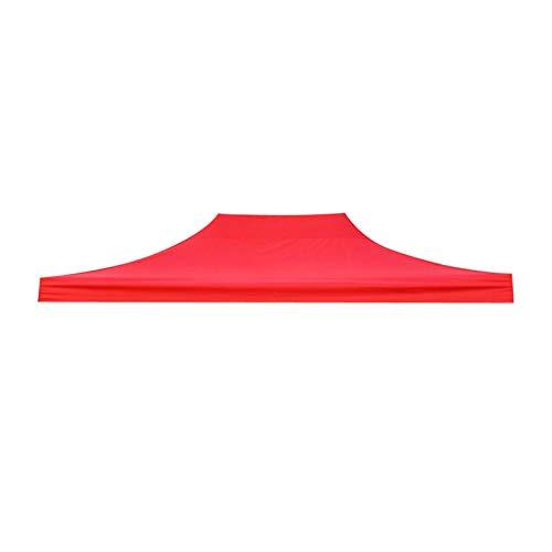 YXIUER Top Cover Outdoor Pavillon Garden Marquee Zelt, Rain Tarp Regenschirm Strandbedeckung - leichte und verschleißfeste (Color : Red 3x4.5m)