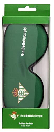 Real Betis Balompié Balompié Antifaz para Dormir - Producto Oficial del Equipo, 100% Anti-Luz, con Goma Flexible Ajustable y Tacto Suave