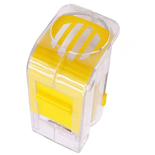 Nicedier Koningin Bijenmarker, fles, koningin, bij, kooi, kunststof, één hand, bijenteelt, geel