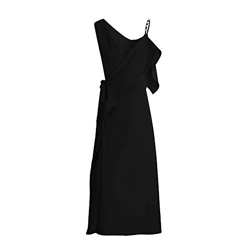 steel master Halloween Goth Steampunk Stil Damen Sommer schlankes schwarzes Kleid (S)