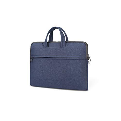 Aktenschränke Notebook-Taschen Roller Expanding Dateien und Mappen Personal Organizer-Aktenkoffer Tablet Sleeves (Color : Blue, Size : 41 × 32 × 4cm)