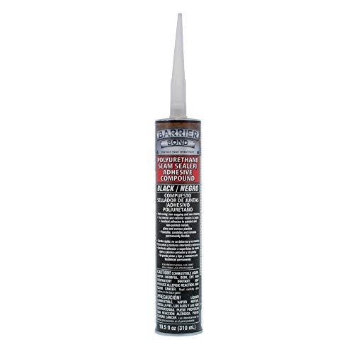 Custom Shop Barrier Bond Black Polyurethane Seam Sealer Adhesive Compound - 10.5 fl. Ounce Cartridge Tube
