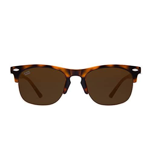 D. Franklin Unisex-Erwachsene America SQ Sonnenbrille, Schwarz (Carey), 50