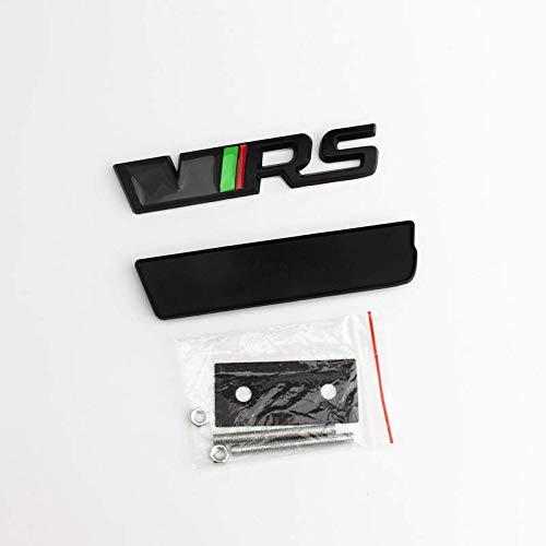 No/Brand Die 3D-Metal Mesh Logo Ist Geeignet Für Skoda VRS Auto-Logo Der Neue Octavia RS Jingrui Xinrui Supai,Schwarz