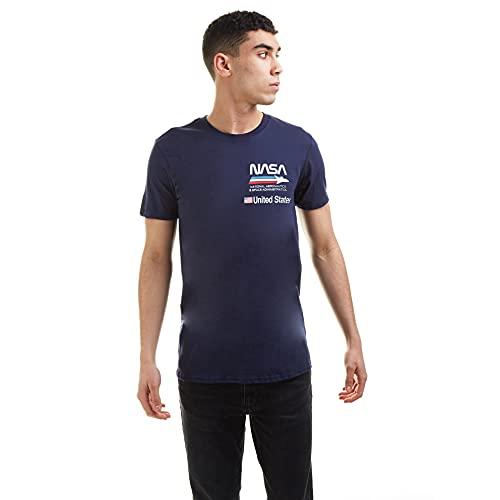 Nasa Plane Aeronautics T-Shirt, Blu (Blu Navy), XXL Uomo
