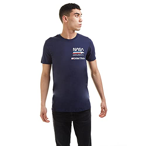 Nasa Plane Aeronautics Camiseta, Azul...