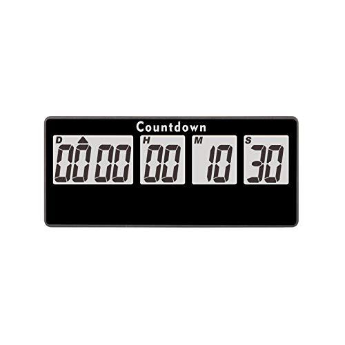 Jayron Retirement Timer 9999 Jours Compte à Rebours Numérique Alarmes Bruyantes,Minuterie de Chronomètre à Adsorption Magnétique à Piles Remplaçable,pour Cadeau de Noël de Mariage(Noir)