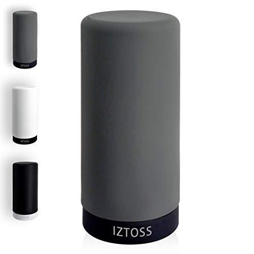 IZTOSS 詰め替え用キッチンディスペンサー スクイズボトル オールシリコン製 キッチン洗剤ボトル (灰色&黒)
