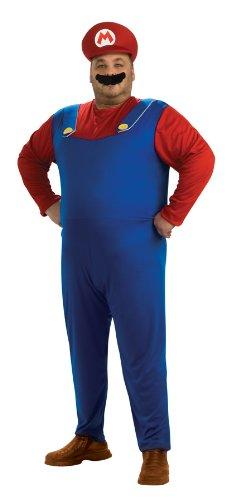 Super Mario Brothers Plus Size Mario Costume for Men