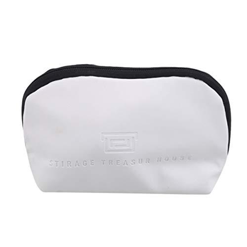 Beiswin Schalenform Kosmetiktasche Make-up-Tasche wasserdichte Reiselagerung Outdoor-Tasche Toilettenartikel Reißverschluss Organizer (Trompete Elfenbein)