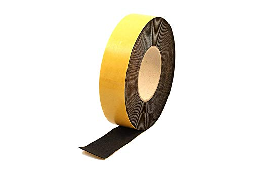 "Neoprene Rubber self adhesive strip 3/8"" wide x 1/16"" thick x 33 feet long"
