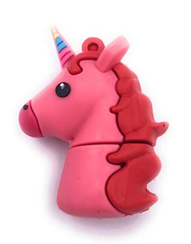 H-Customs Unicornio mítico Criatura Rosa USB Flash Drive 8GB