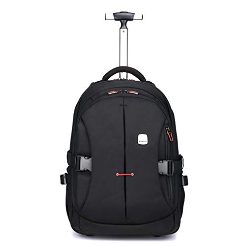 Casual Wheeled Trolley Business Case for 15.6-inch Laptops for Outdoor Mountaineering (Color : Black, Size : 21inch)