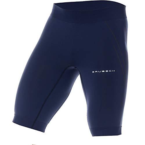 BRUBECK Laufhose Herren Läufer kurz blau nahtlos   Mens Leggings   atmungsaktive Leggins   Kurze Enge Sporthose   Hose Laufen Running   Kurze Jogginghose   Gr. XL, Navy Blue   LB10140A