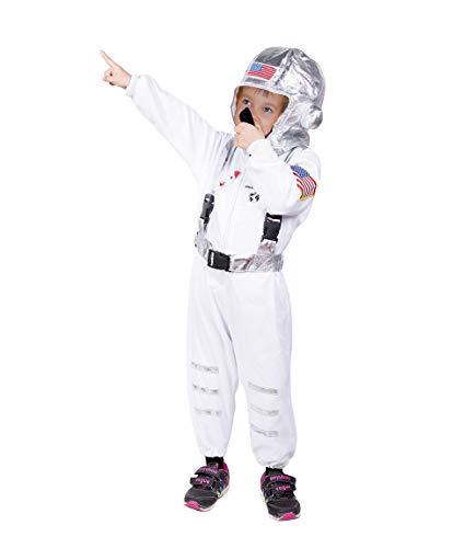 Seruna Astronaut-en Kostüm-e F136 Gr. 104-110, Kinder-Kostüme Space Weltraum Raumfahrer Mädchen u. Jung-en Fasching-s Karneval-s Geburtstags-Geschenk