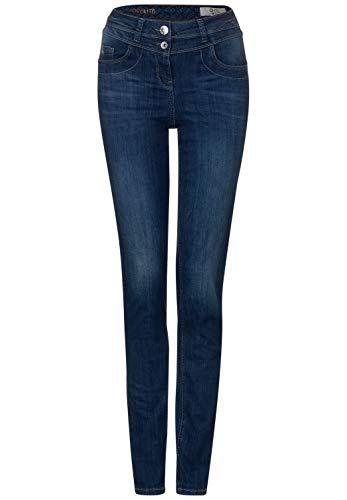 CECIL Damen 372909 Toronto Jeans, Blau(Dark blue wash)W26/L28