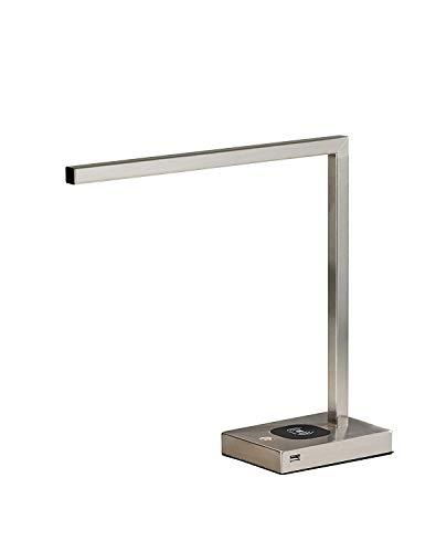 Adesso 4220-22 Aidan LED Desk Lamp WirelessCharging, 7W LED, 5W QI,USB Port, Indoor Lighting Lamps