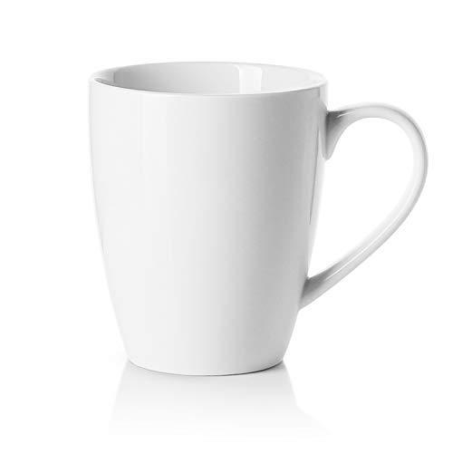 Sweese 611.101 Kaffeebecher Kaffeetassen aus Porzellan, 350 ml Becher mit henkel für Heißgetränke