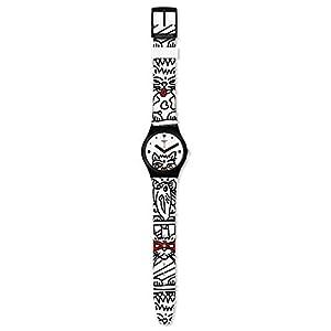 Swatch Reloj Analógico para Mujer de Cuarzo Suizo con Correa en Silicona